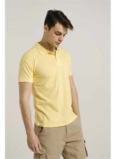 Oksit Alcott Polo Yaka Slim Fit Erkek Tshirt Sarı